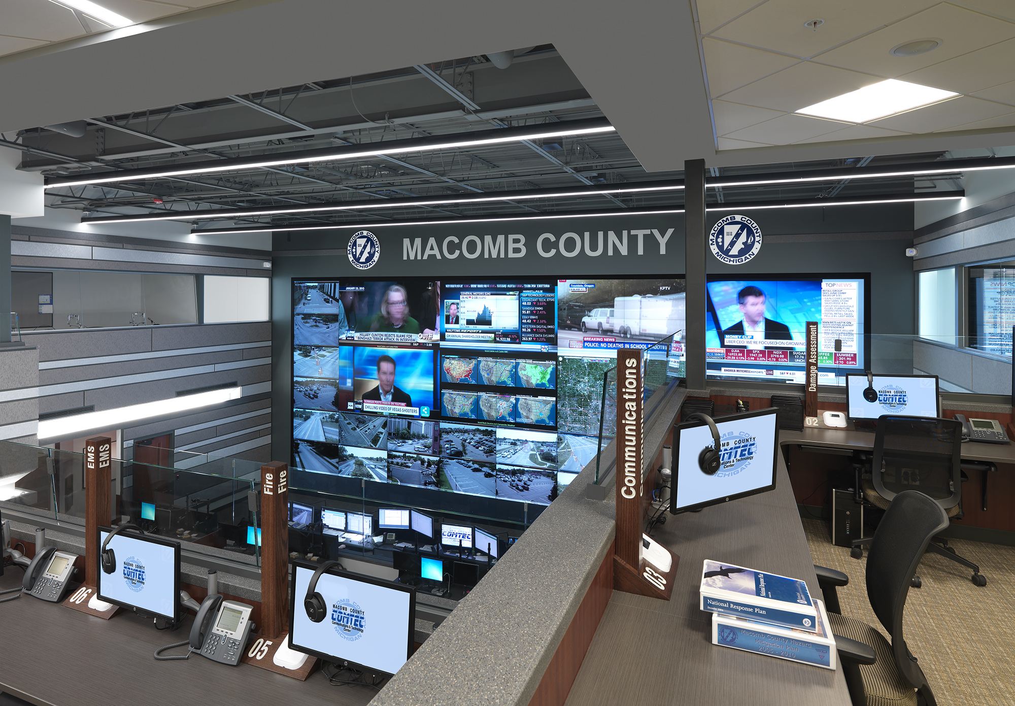 Macomb County Emergency Operations Center - Architectural